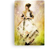 Paper Gown in Wonderland Canvas Print