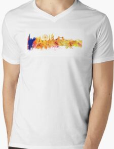 London skyline map city Tower Mens V-Neck T-Shirt