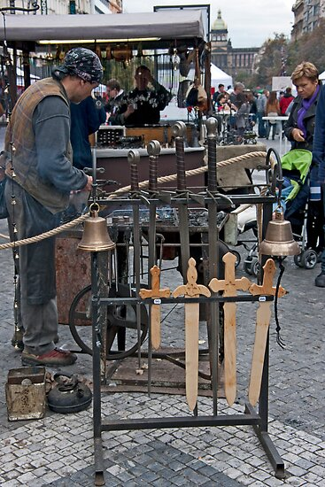 Street Blacksmith by phil decocco