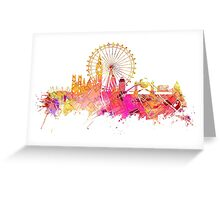 London skyline map city pink Greeting Card