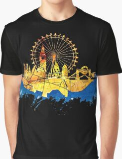 London skyline map city blue Graphic T-Shirt