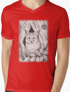 Desert Fox Mens V-Neck T-Shirt