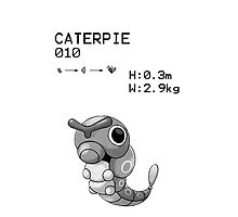B&W Caterpie iPhone / iPod Case by Aaron Campbell