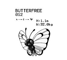 B&W Butterfree iPhone / iPod Case by Aaron Campbell