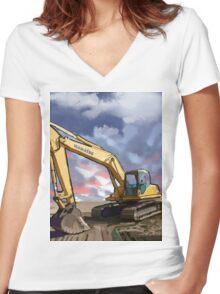 Komatsu Women's Fitted V-Neck T-Shirt