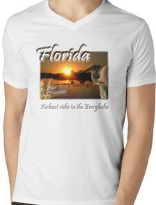 Florida (Airboat Rides in the Everglades) Mens V-Neck T-Shirt