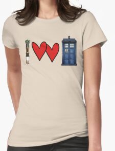 I love Doctor Who Womens Fitted T-Shirt