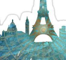 Paris skyline wind rose Sticker