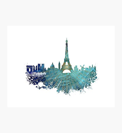 Paris skyline wind rose Photographic Print