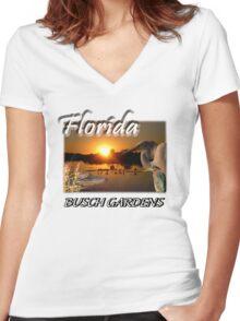 Florida (Busch Gardens) Women's Fitted V-Neck T-Shirt