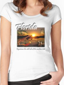 Florida (Experience the Wild Side of the Sunshine State) Women's Fitted Scoop T-Shirt