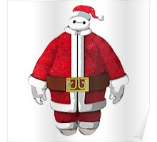 Baymax Father Christmas Poster