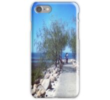 A walk along the beach iPhone Case/Skin