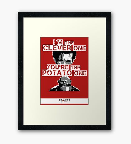 Doctor Who clever potato Framed Print