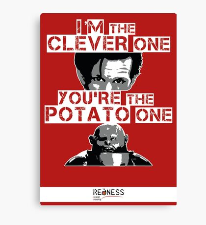 Doctor Who clever potato Canvas Print