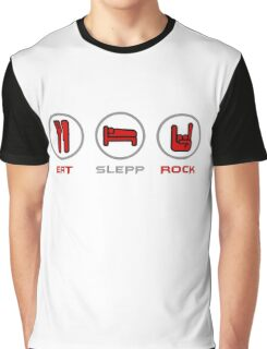 Eat Sleep and Rock Graphic T-Shirt