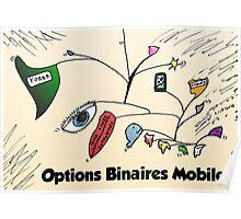 Calder a inspiré les options binaires mobiles dessinées Poster