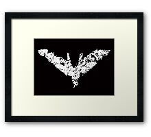 Batman 'Chalk Bat Signal' from The Dark Knight Rises Framed Print