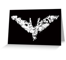 Batman 'Chalk Bat Signal' from The Dark Knight Rises Greeting Card