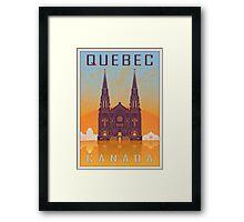 Quebec vintage poster Framed Print