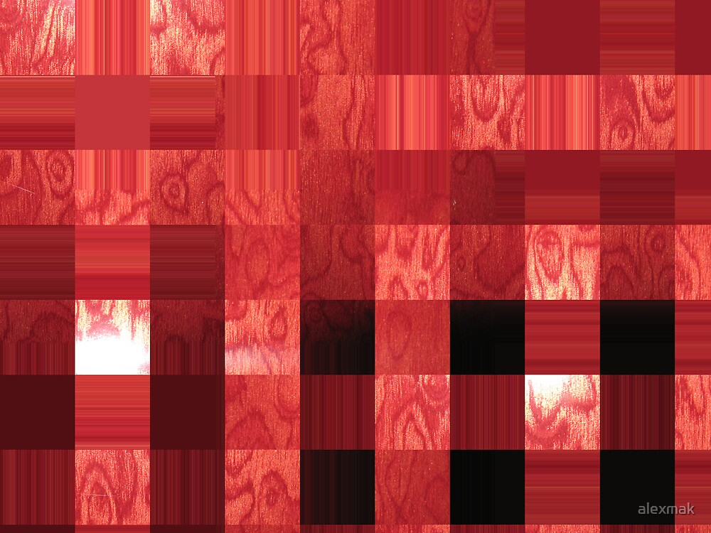red abstract stripes by alexmak