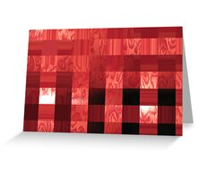 red abstract stripes Greeting Card