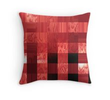 red abstract stripes Throw Pillow