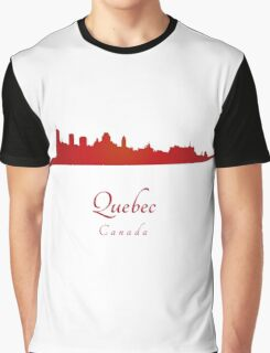Quebec skyline in red Graphic T-Shirt