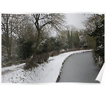 snow on the canal Poster