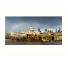 Rainbow over St Paul's Art Print