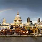 Rainbow over St Paul's by Gary Eason