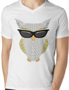 Owl with glasses Mens V-Neck T-Shirt