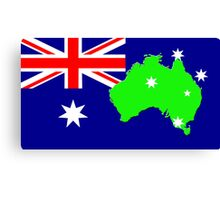map of Australia on its flag Canvas Print