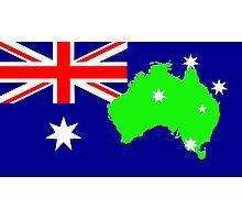 map of Australia on its flag Photographic Print