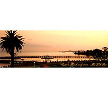Eastern Beach Geelong early morn Photographic Print