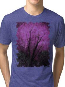 Tree and Purple Sky, Evening Tri-blend T-Shirt