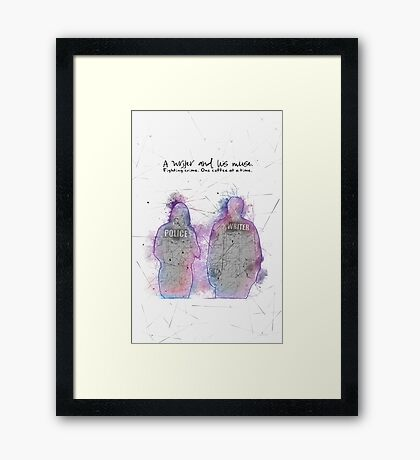 A Writer & His Muse Framed Print