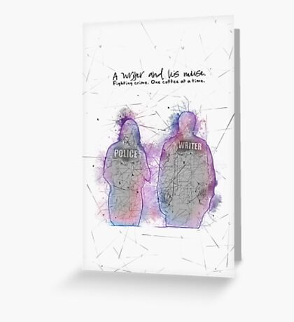 A Writer & His Muse Greeting Card