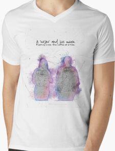 A Writer & His Muse Mens V-Neck T-Shirt