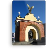 Beautiful arch on a background of the blue sky Metal Print