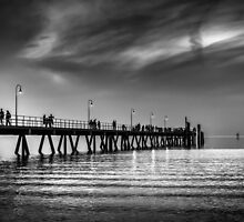 Glenelg At Dusk. by Nicholas Griffin