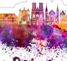 Reims skyline in watercolor Sticker