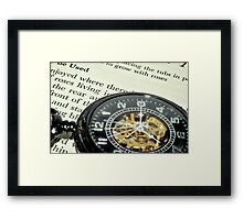 pocket watch Framed Print