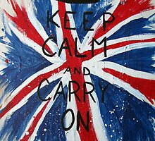 Keep Calm And Carry On Union Jack by metroemporium