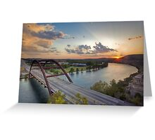 Pennybacker Bridge Summer at Sunset - Austin, Texas Greeting Card