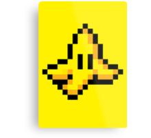 8-Bit Nintendo Mario Kart Banana Peel Metal Print