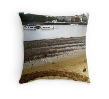 Sand Sculpture on the Thames Throw Pillow