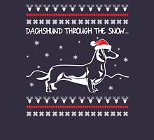 Dachshund Through The Snow, Ugly Christmas Sweater Long Sleeve T-Shirt