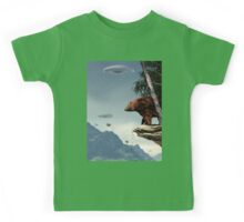 Do Aliens Get Grizzly? Kids Tee