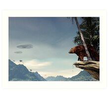 Do Aliens Get Grizzly? Art Print
